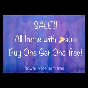 All Items with 🎉 Are BOGO free